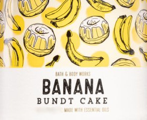 Banana Bundt Cake USA Bath and Body Works Wax Crumble Pot