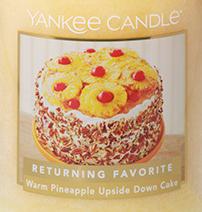 Warm Pineapple Upside Down Cake USA Yankee Candle Wax Crumble Pot