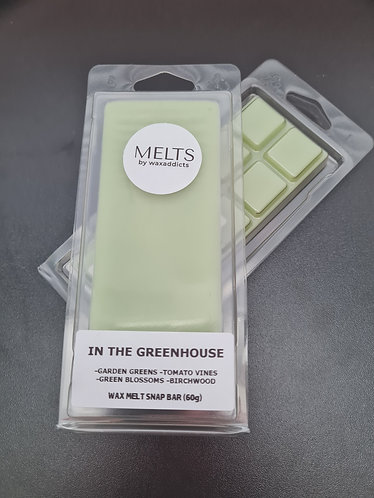In The Greenhouse Wax Melt Snap Bar by Wax Addicts