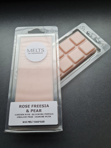 Rose Freesia and Pear Wax Melt Snap Bar by Wax Addicts