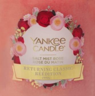 Salt Mist Rose Yankee Candle Wax Crumble Pot