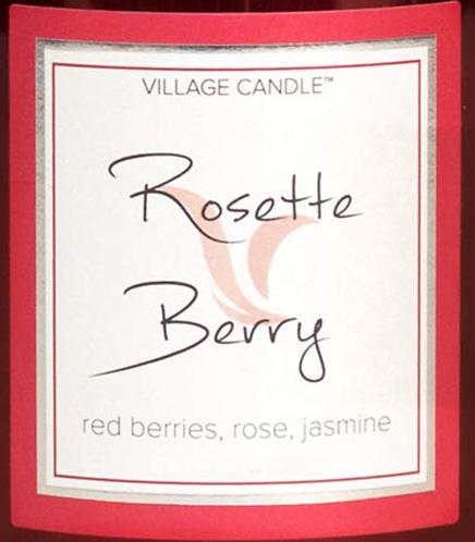 Rosette Berry Village Candle Wax Crumble Pot 22g