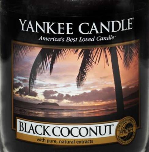 Black Coconut Yankee Candle Wax Crumble Pot