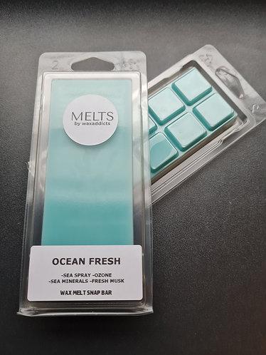 Ocean Fresh Wax Melt Snap Bar by Wax Addicts