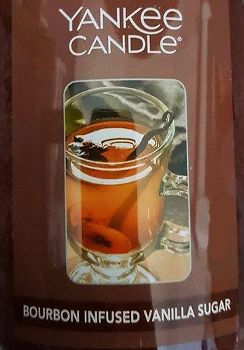 Bourbon Infused Vanilla Sugar USA Yankee Candle Wax Crumble Pot
