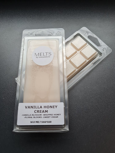 Vanilla Honey Cream Wax Melt Snap Bar by Wax Addicts