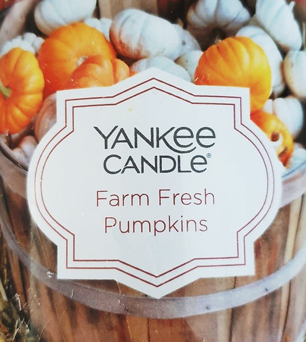 Farm Fresh Pumpkins USA Yankee Candle Wax Crumble Pot 22g