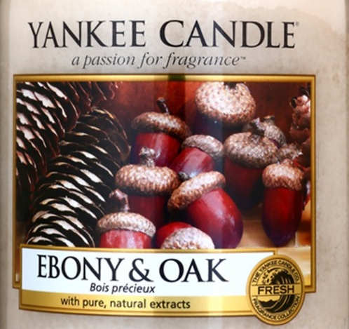 Ebony and Oak Yankee Candle Wax Crumble Pot