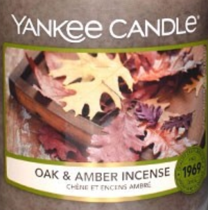 Oak and Amber Incense USA Yankee Candle Wax Crumble Pot 22g