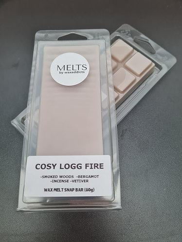 Cosy Logg Fire Wax Melt Snap Bar by Wax Addicts