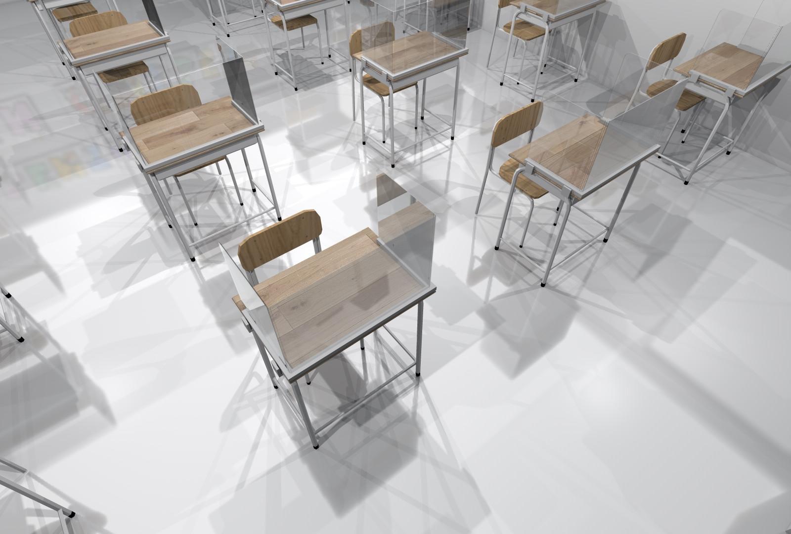 Protezione per banco scolastico