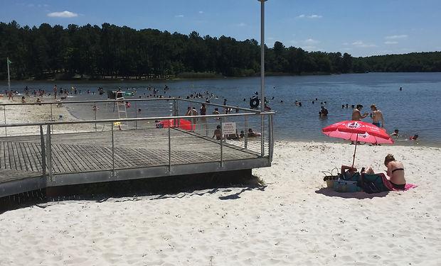 Lake Jemaye beach