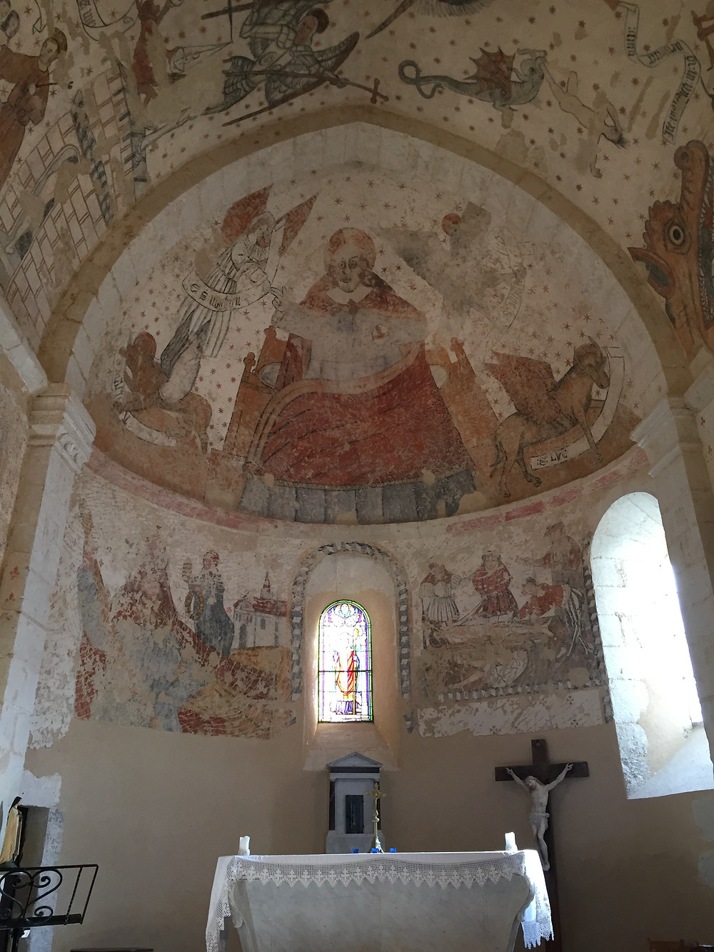 Medieval church art