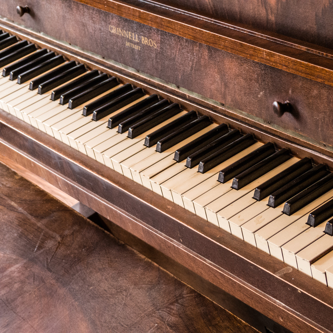 Piano at Vacation Cottage