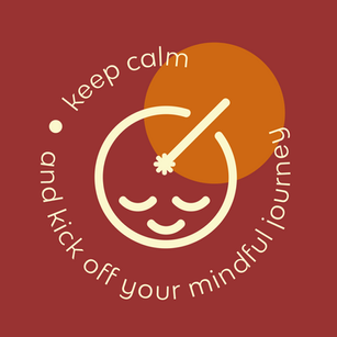 PA Keep Calm with Face burgundy Backgrou