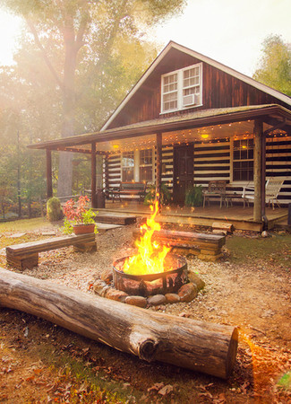 Log Cabin Bon Fire