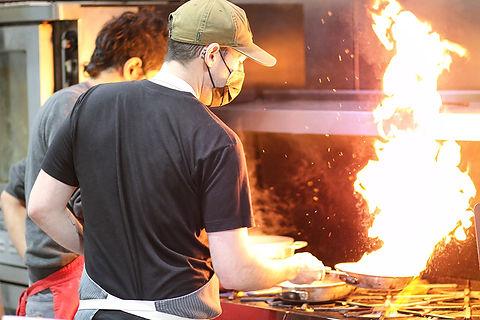 Chef Bert at GAF Make Space Kitchen LowR