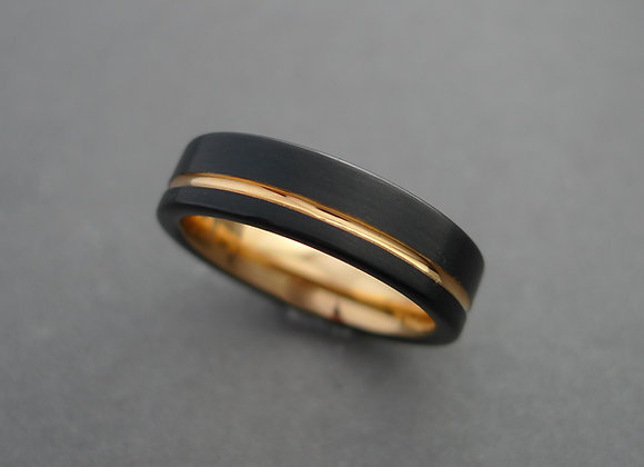 Tungsten with 18K Rose Gold PVD