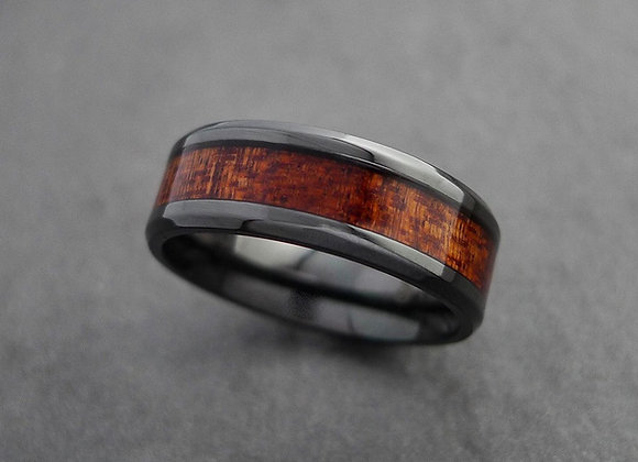 Black Titanium and Wood inlay