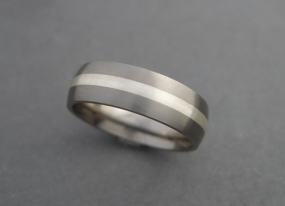 Titanium with Sterling Silver
