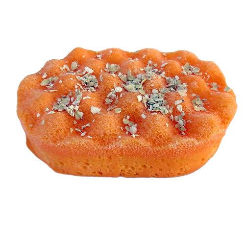 Massaging Soap Sponge - Orange & Oats