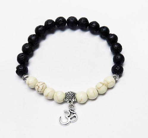 White Howlite Lava Stone Bracelet