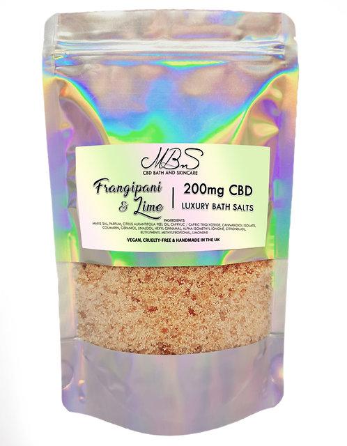 Frangipani & Lime Luxury Bath Salts