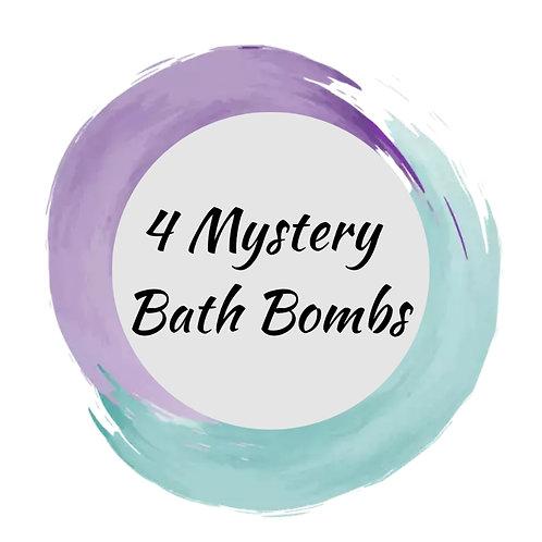 4 Mystery Bath Bombs