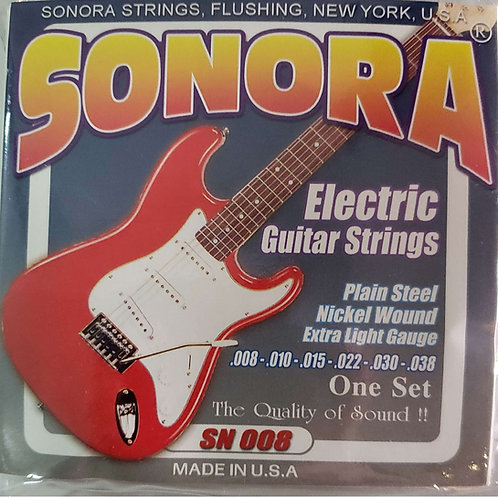 Cuerda SONORA SN008 p/ Guitarra Electrica