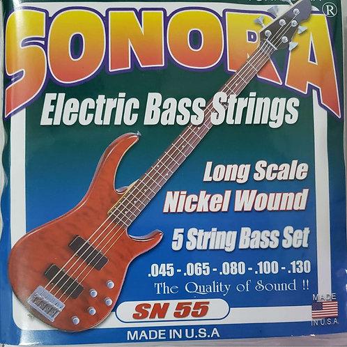 Cuerdas Sonora para Bajo Electrico de 5