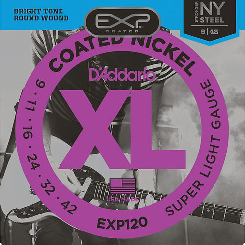 Cuerda D'ADDARIO EXP Coated  p/Guitarra Electrica