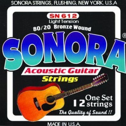 Cuerda SONORA SN612 p/ Guitarra Acustica d/12