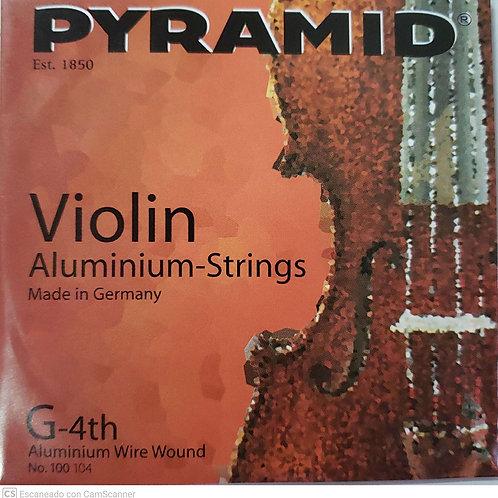 Cuerda PYRAMID para Violín 4a.