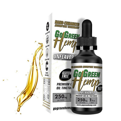 GoGreen Hemp CBD Nano-Tincture Unflavored 250mg