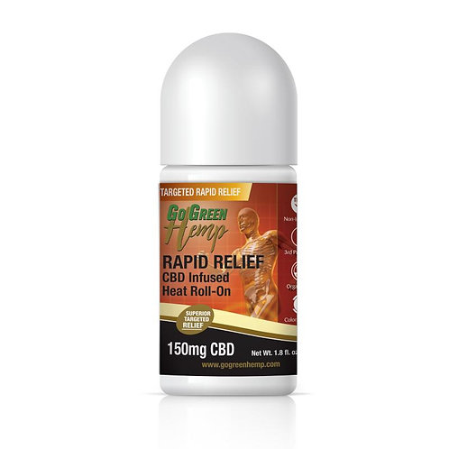 GoGreen Hemp CBD Infused Heat Roll-On 150mg