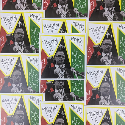 Malcolm X By Any Means Necessary Magnet