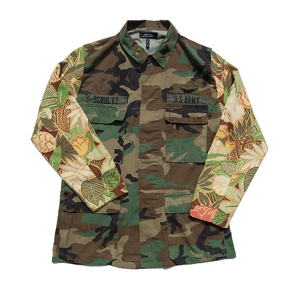 2 of 2 Floral Army Jacket