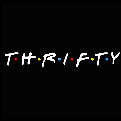 Thrifty Friends Transparent Sticker