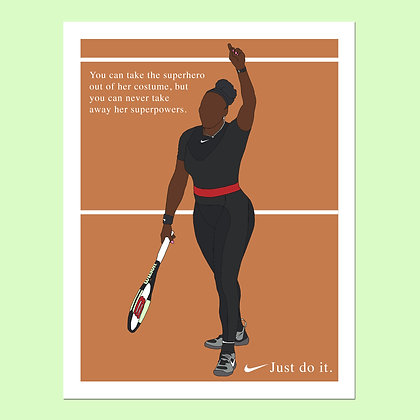 Serena Williams US Open Print