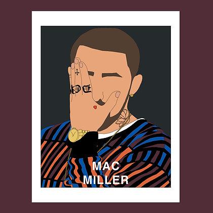 Mac Miller Fader Print