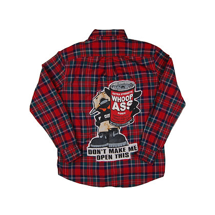 Can of Whoop Ass Flannel