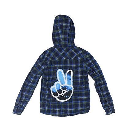Galaxy Peace Hooded Flannel