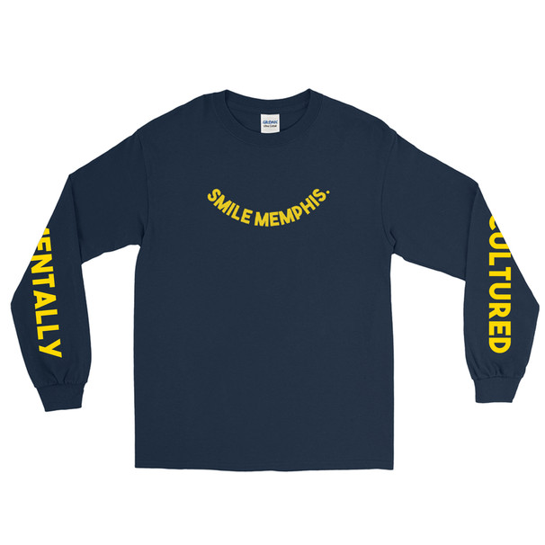 Smile Memphis Navy Long Sleeve Starter