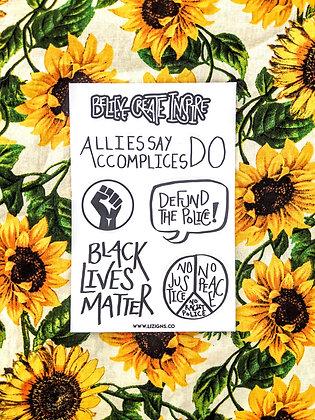Black Lives Matter Sticker Sheet