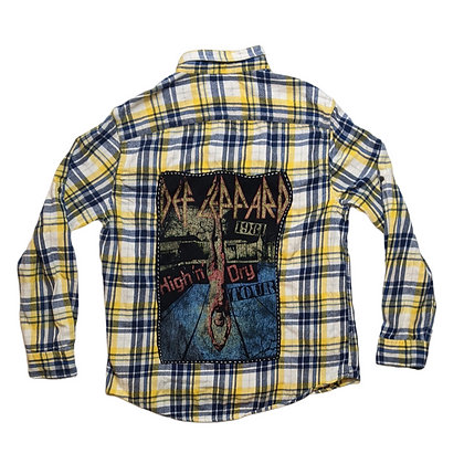 Def Leppard 1981 High 'n' Dry Tour Flannel