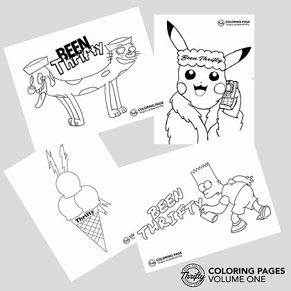 Been Thrifty Coloring Pages Vol. 1