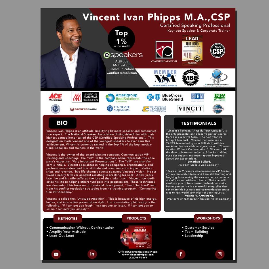 Vincent Ivan Phipps Speaker One Sheet Front