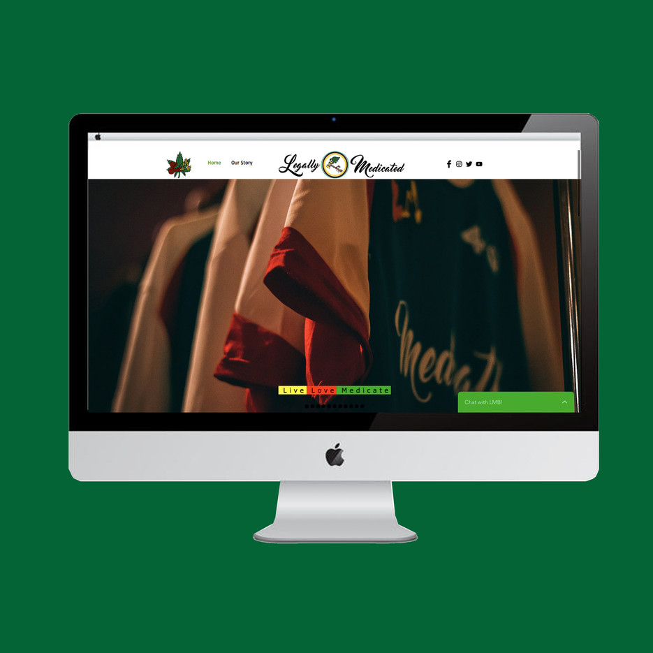 Legally Medicated Brand Website