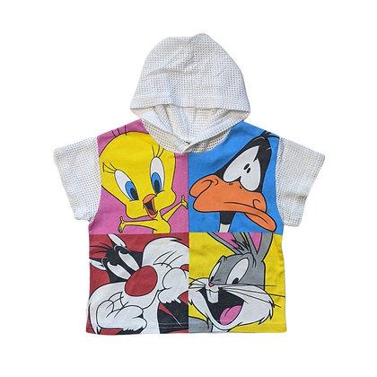 Looney Tunes Fish Net Hoodie Tee