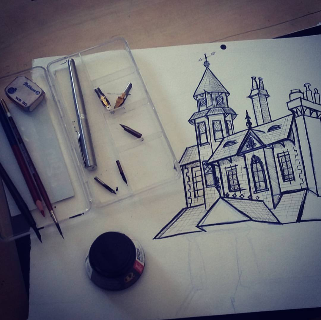 Old Mansion, ink process